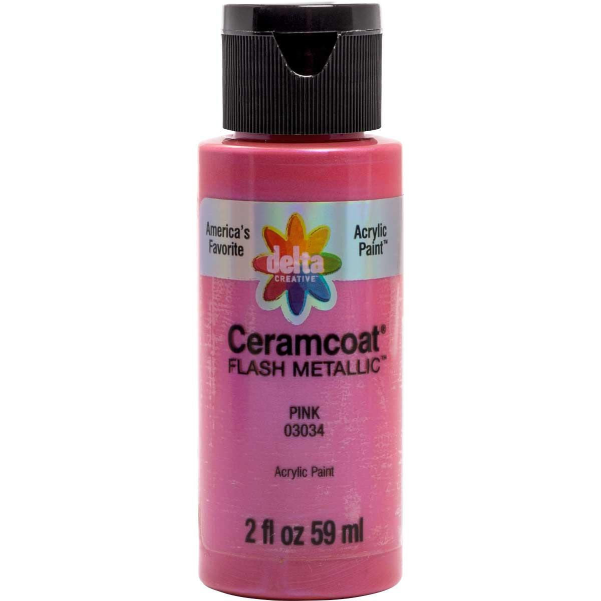 Delta Ceramcoat ® Acrylic Paint - Flash Metallic Pink, 2 oz.