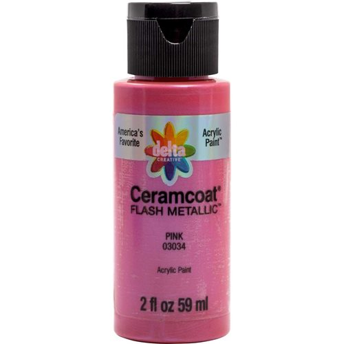 Delta Ceramcoat ® Acrylic Paint - Flash Metallic Pink, 2 oz. - 03034
