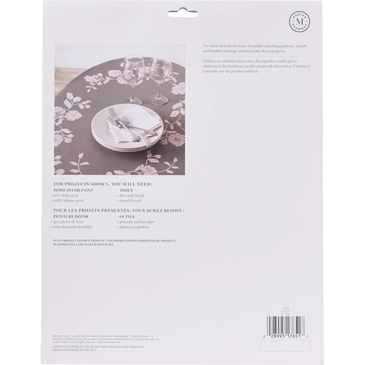 Martha Stewart ® Laser-Cut Stencil - Floral - 17651