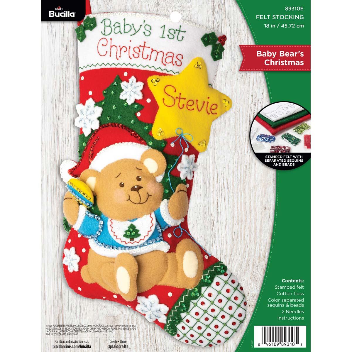 Bucilla ® Seasonal - Felt - Stocking Kits - Baby Bear's Christmas - 89310E