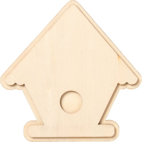 Plaid ® Wood Surfaces - Unpainted Layered Shapes - Birdhouse - 44974