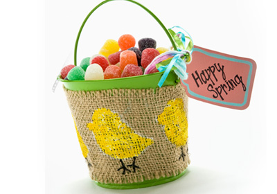 Little Chicks Pail for Easter Treats