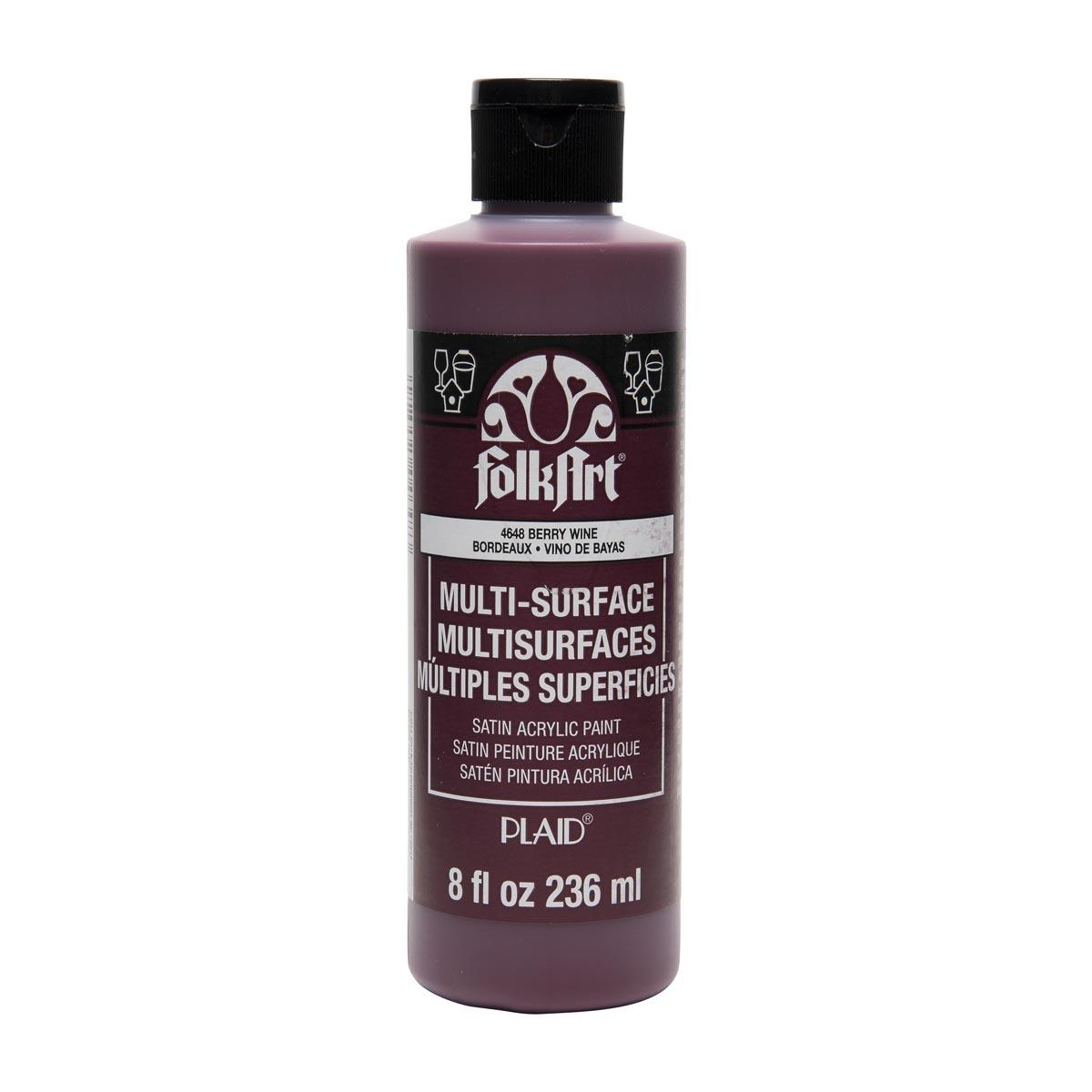 FolkArt ® Multi-Surface Satin Acrylic Paints - Berry Wine, 8 oz.