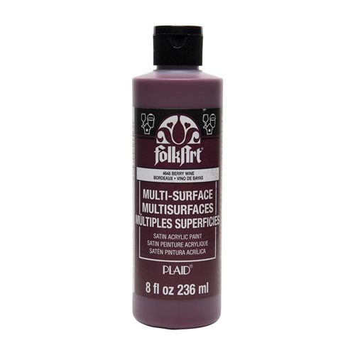 FolkArt ® Multi-Surface Satin Acrylic Paints - Berry Wine, 8 oz. - 4648
