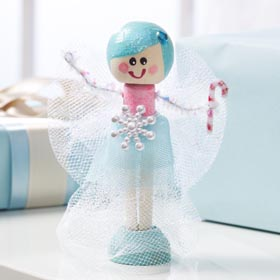 Clothespin Doll for Holidays