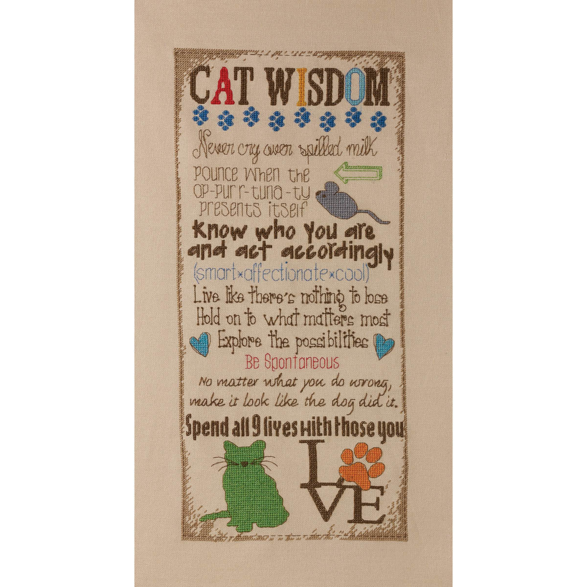 Bucilla ® Counted Cross Stitch - Picture Kits - Cat Wisdom - 45851