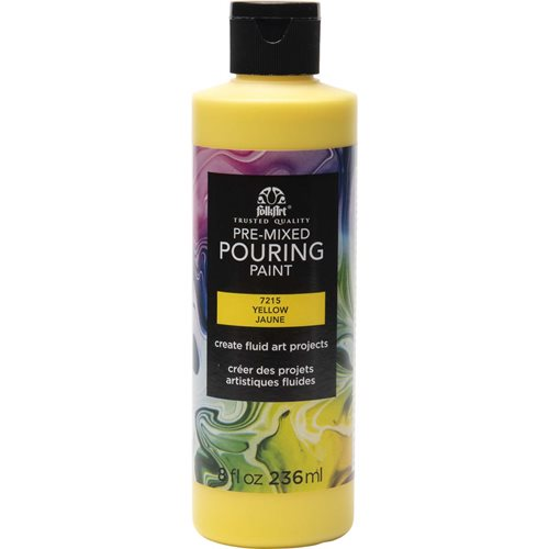 FolkArt ® Pre-mixed Pouring Paint - Yellow, 8 oz. - 7215