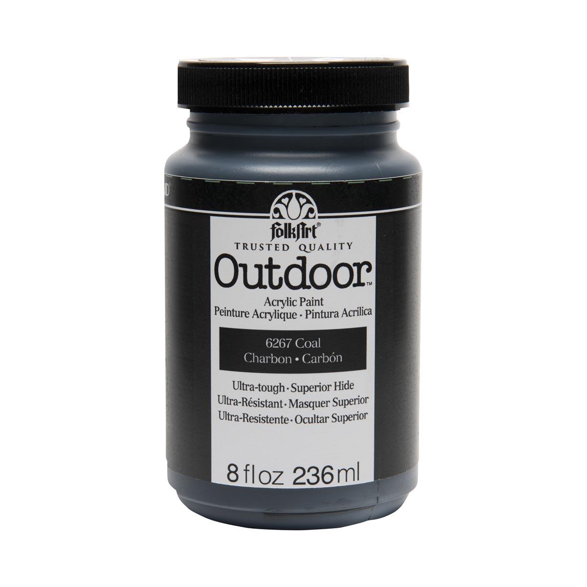 FolkArt ® Outdoor™ Acrylic Colors - Coal, 8 oz.