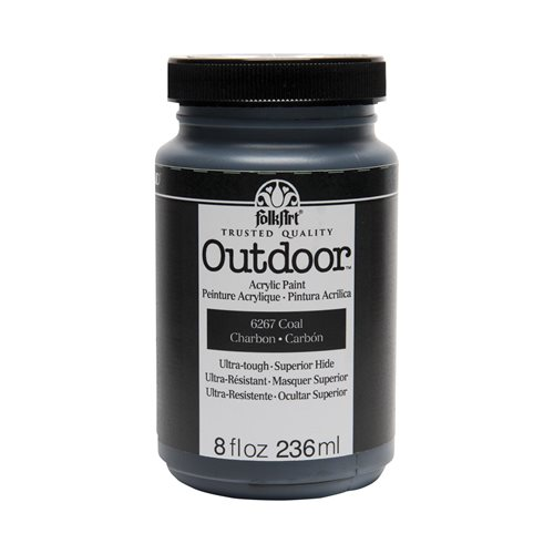FolkArt ® Outdoor™ Acrylic Colors - Coal, 8 oz.