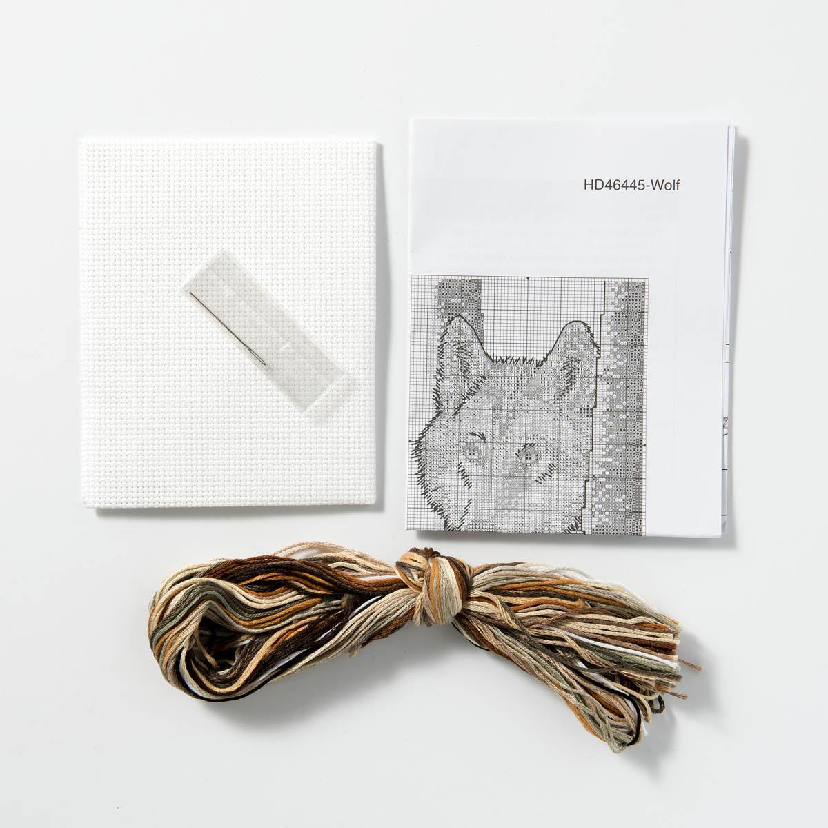 Bucilla ® Counted Cross Stitch - Picture Kits - Mini - Wolf