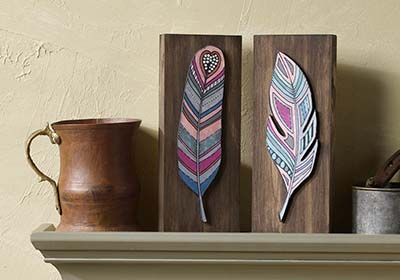 Feather Art Inspired by Coloring Book for Adults
