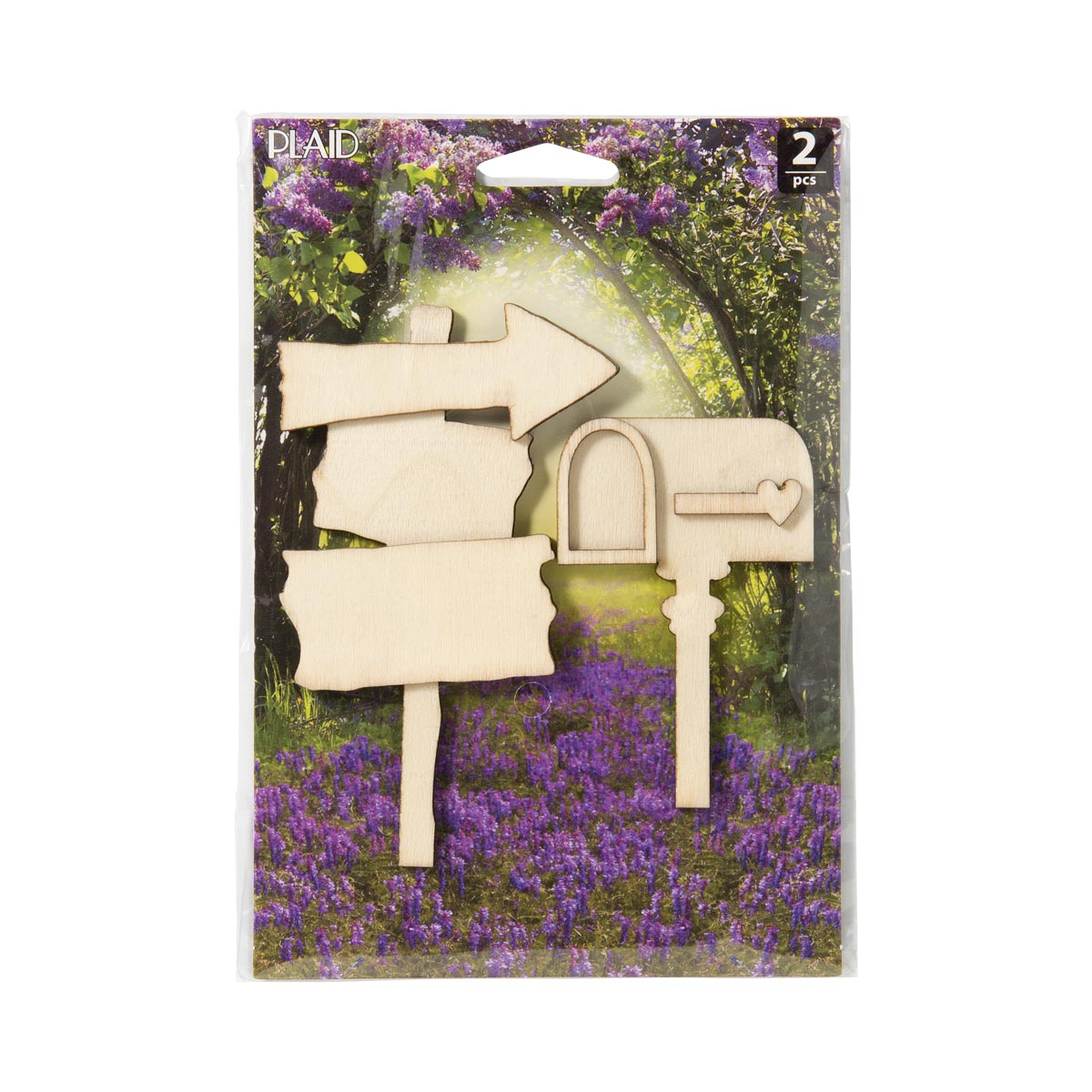 Plaid ® Wood Surfaces - Fairy Garden - Mailbox and Sign 2 pc.