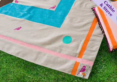 Picnic Cloth Made From a Drop Cloth