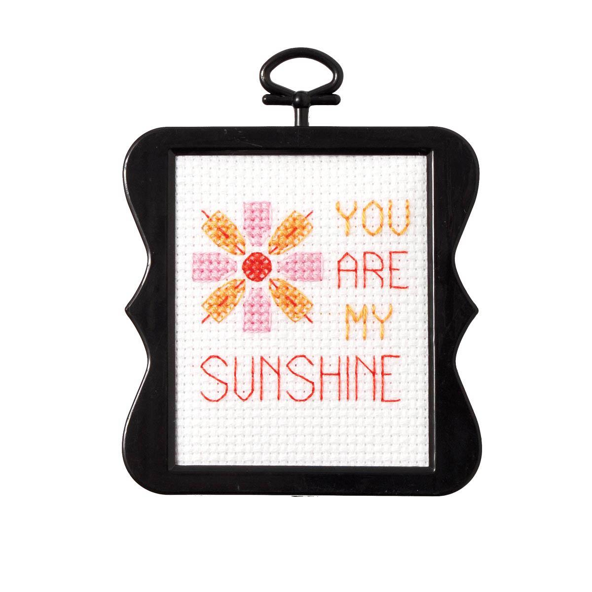 Bucilla ® Counted Cross Stitch - Beginner Stitchery - Mini - You Are My Sunshine