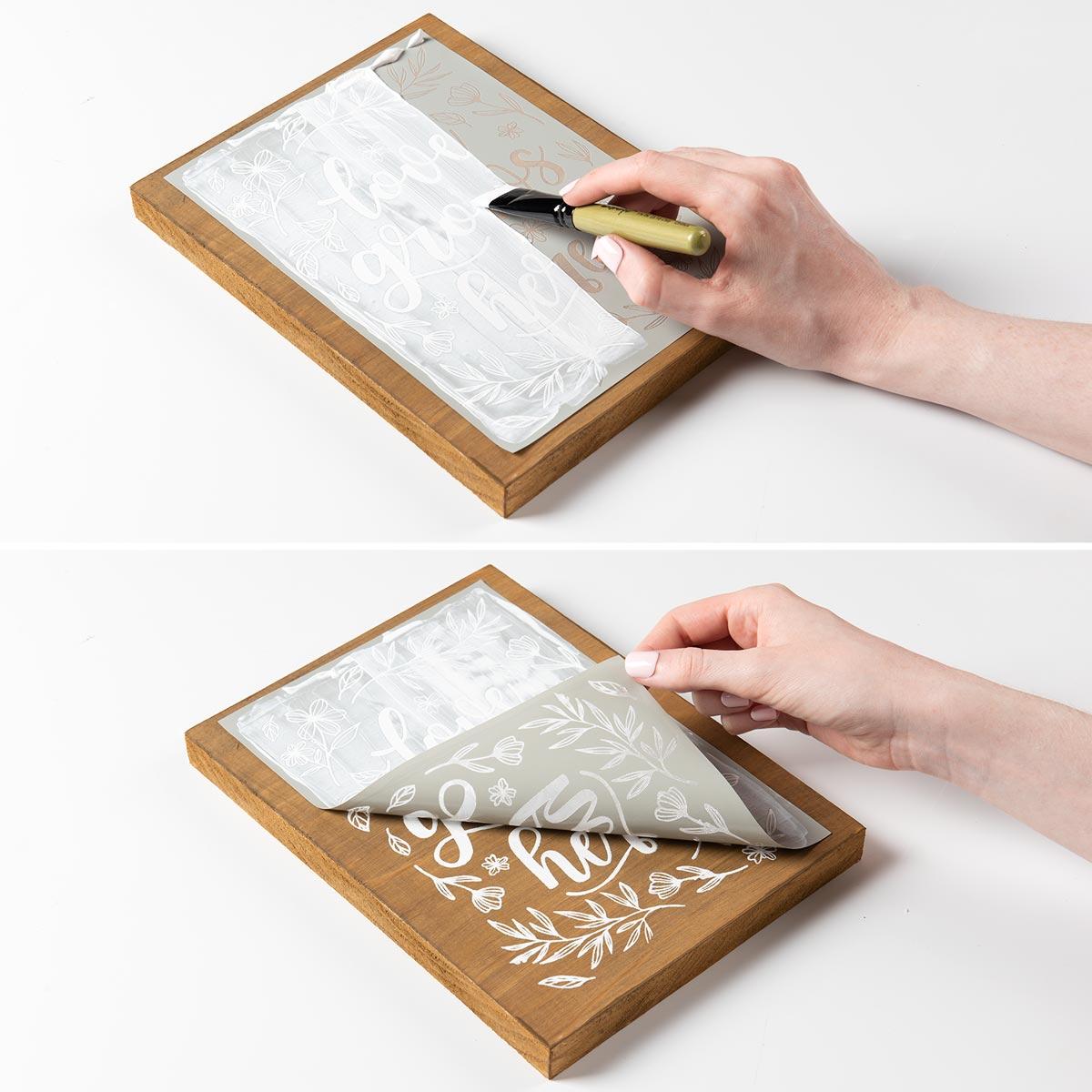 FolkArt ® Sign Shop™ Brush Set - Stencil Paste Brush Set, 2 pc. - 36353