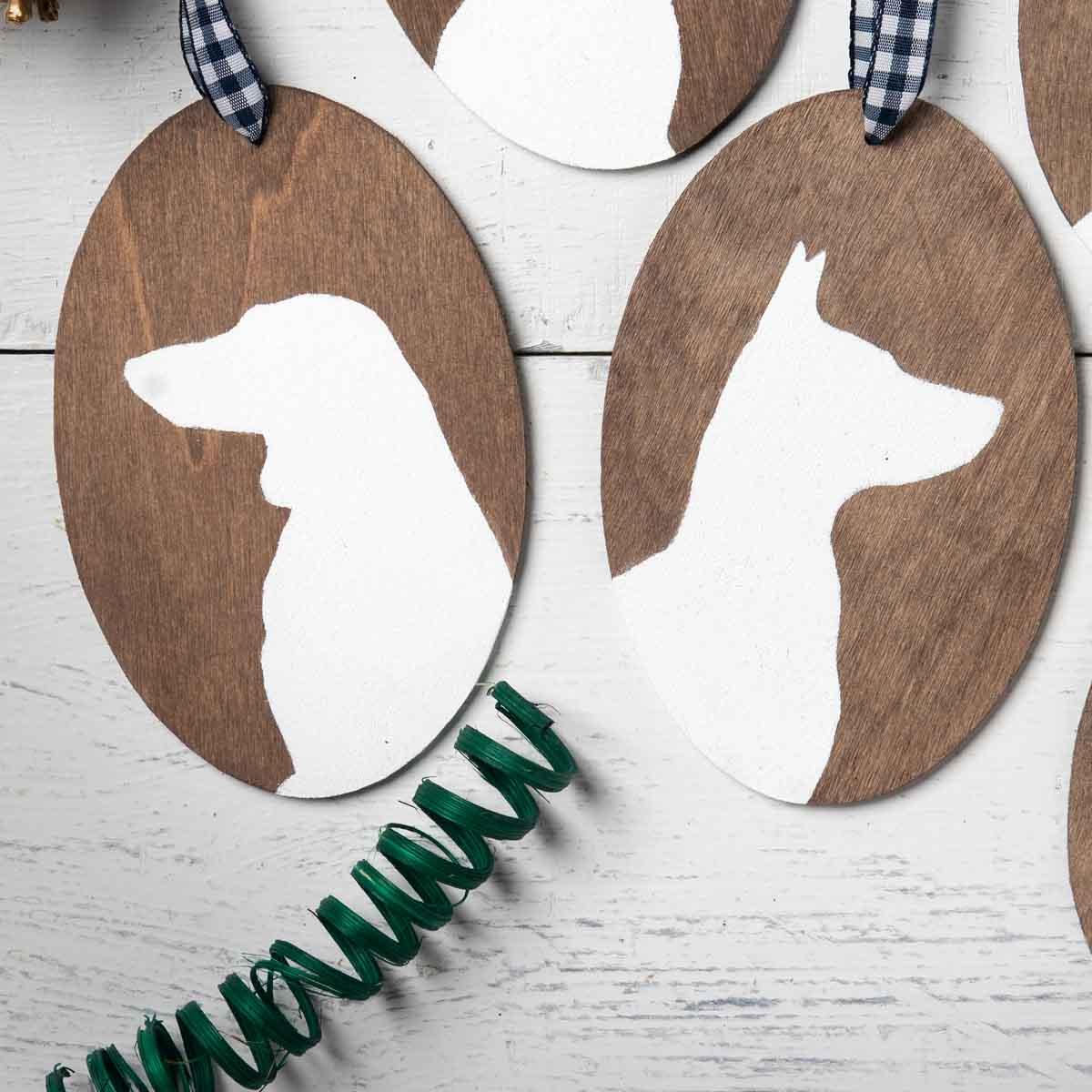Custom Pet Silhouette Ornaments
