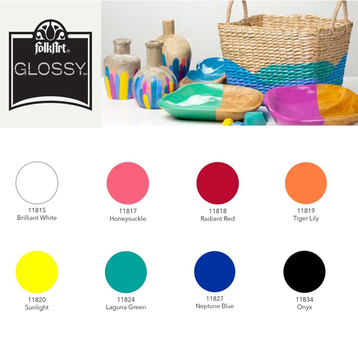 FolkArt ® Glossy Acrylic Paint Set 8 pc - 44509