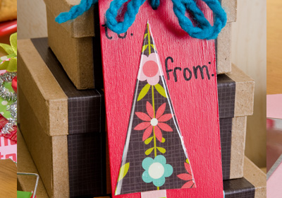 Holiday Tree Boxes and Gift Tag