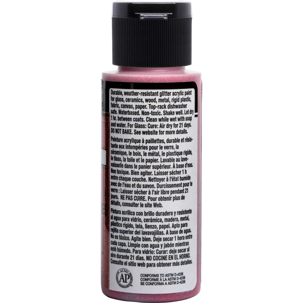 FolkArt ® Multi-Surface Glitter Acrylic Paints - Fiery Red, 2 oz. - 2961