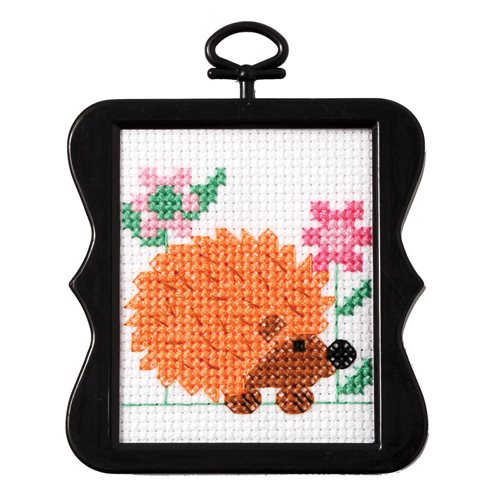 Bucilla ® Counted Cross Stitch - Beginner Stitchery - Mini - Hedgehog - 45755