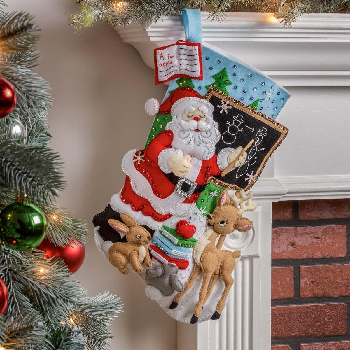 Bucilla ® Seasonal - Felt - Stocking Kits - Teacher Santa - 89254E