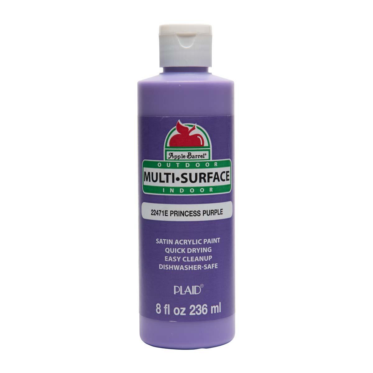 Apple Barrel ® Multi-Surface Satin Acrylic Paints - Princess Purple, 8 oz.
