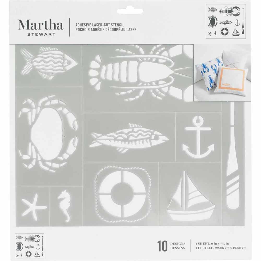 Martha Stewart® Adhesive Stencil - Nautical