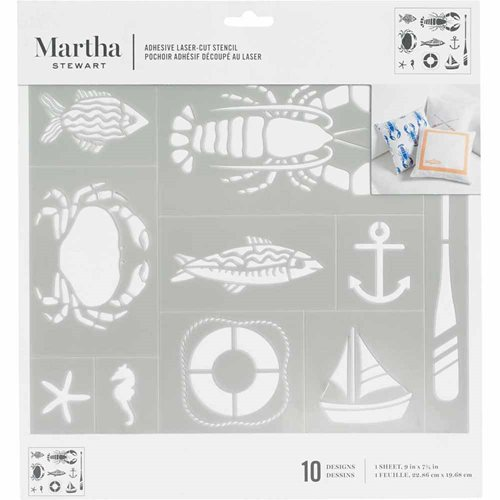 Martha Stewart ® Adhesive Stencil - Nautical - 5694
