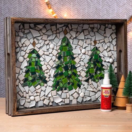 Mosaic Winter Tree Tray