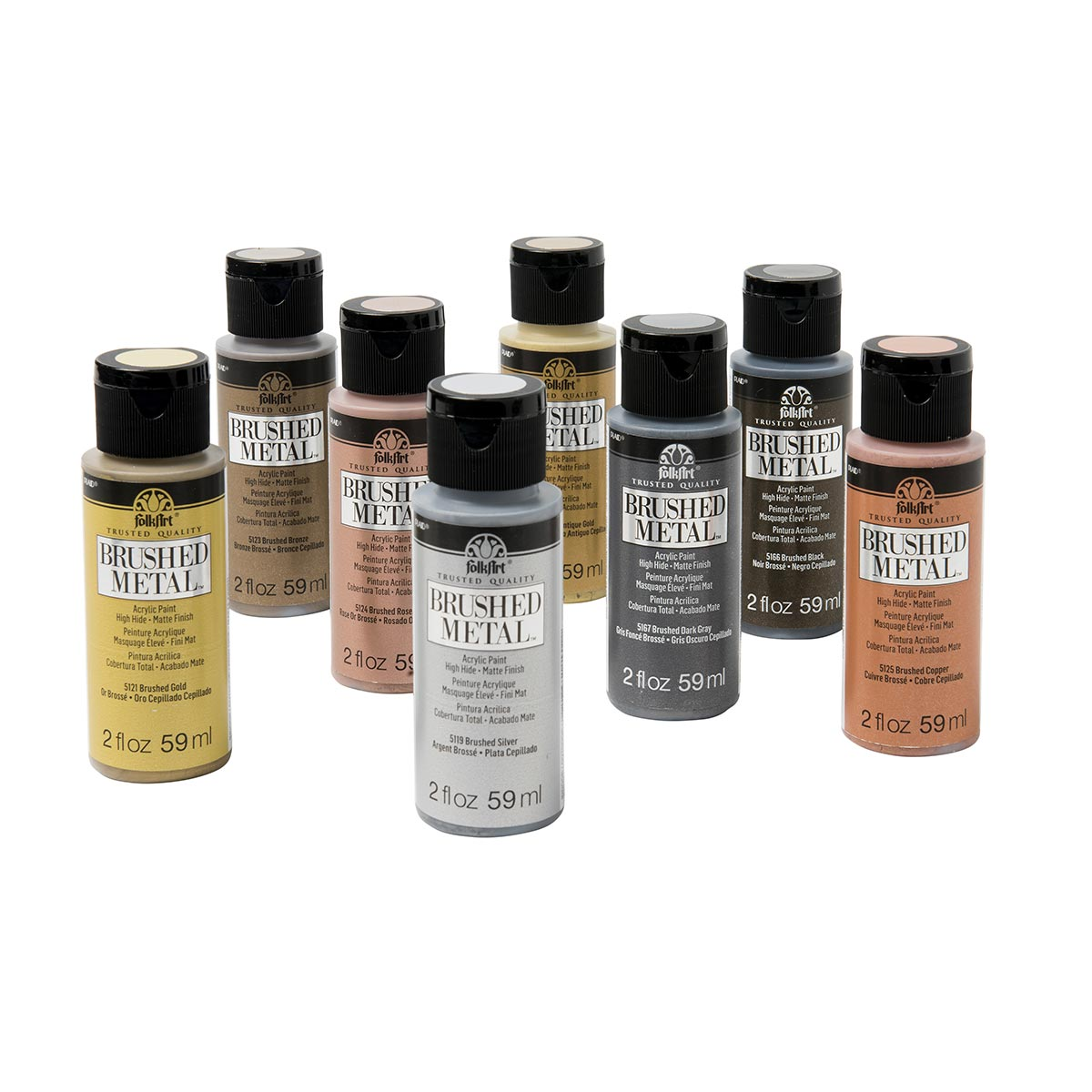FolkArt ® Brushed Metal™ Acrylic Paint Set 8 Color - PROMOBM8
