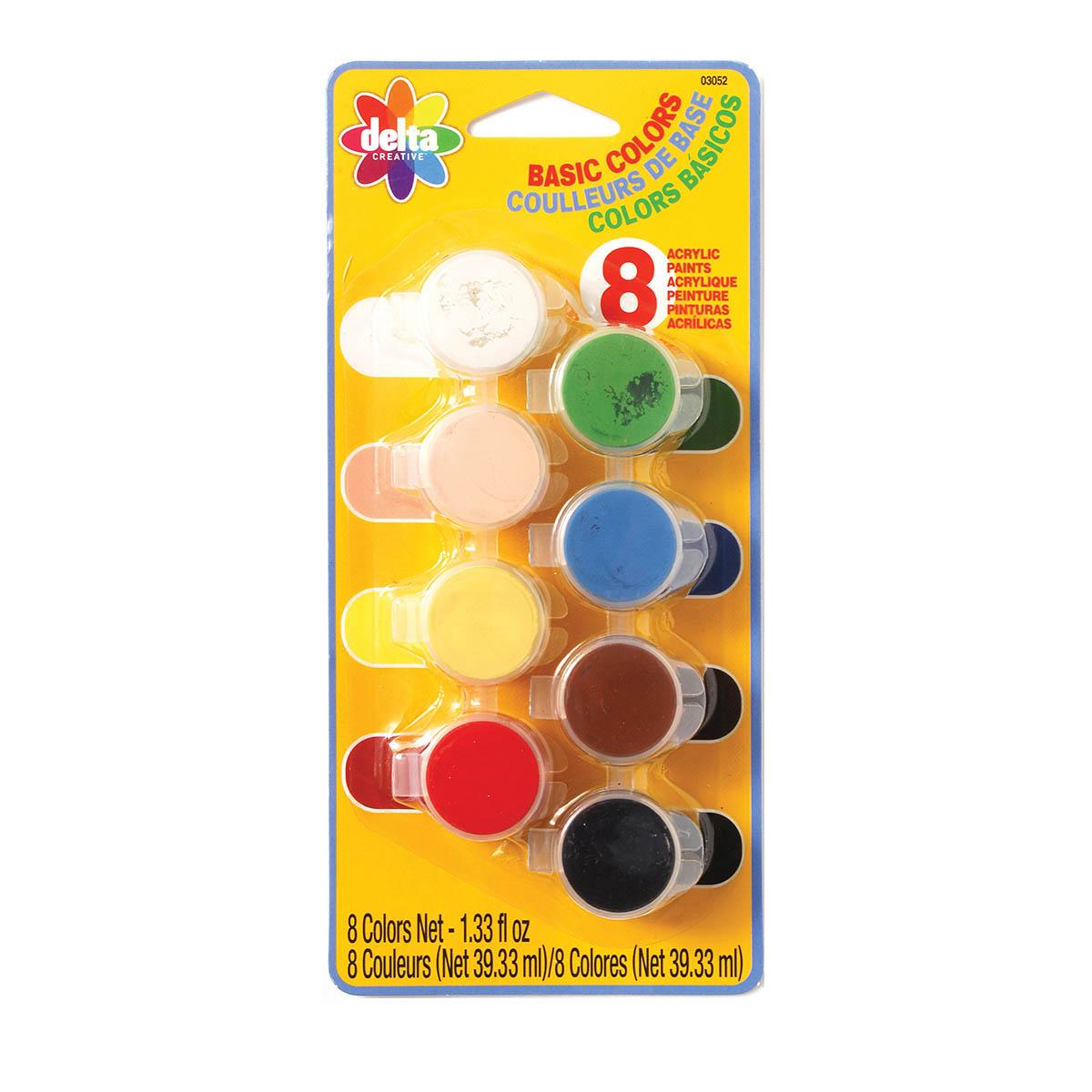 Delta Acrylic Paint  Sets - Basic, 8 Colors