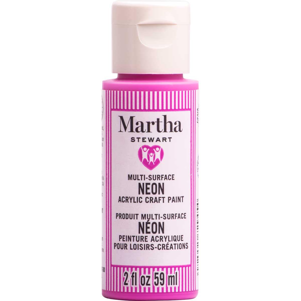 Martha Stewart® 2oz Multi-Surface Neon Acrylic Craft Paint - Magenta