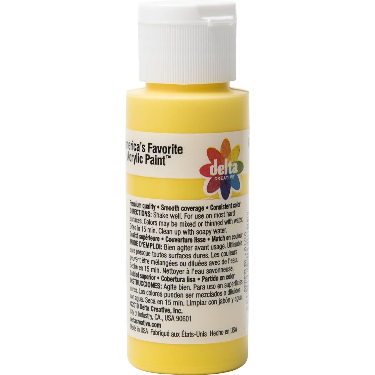 Delta Ceramcoat ® Acrylic Paint - Bright Yellow, 2 oz.
