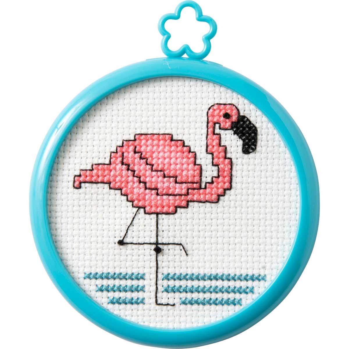 Bucilla ® My 1st Stitch™ - Counted Cross Stitch Kits - Mini - Tropical Flamingo