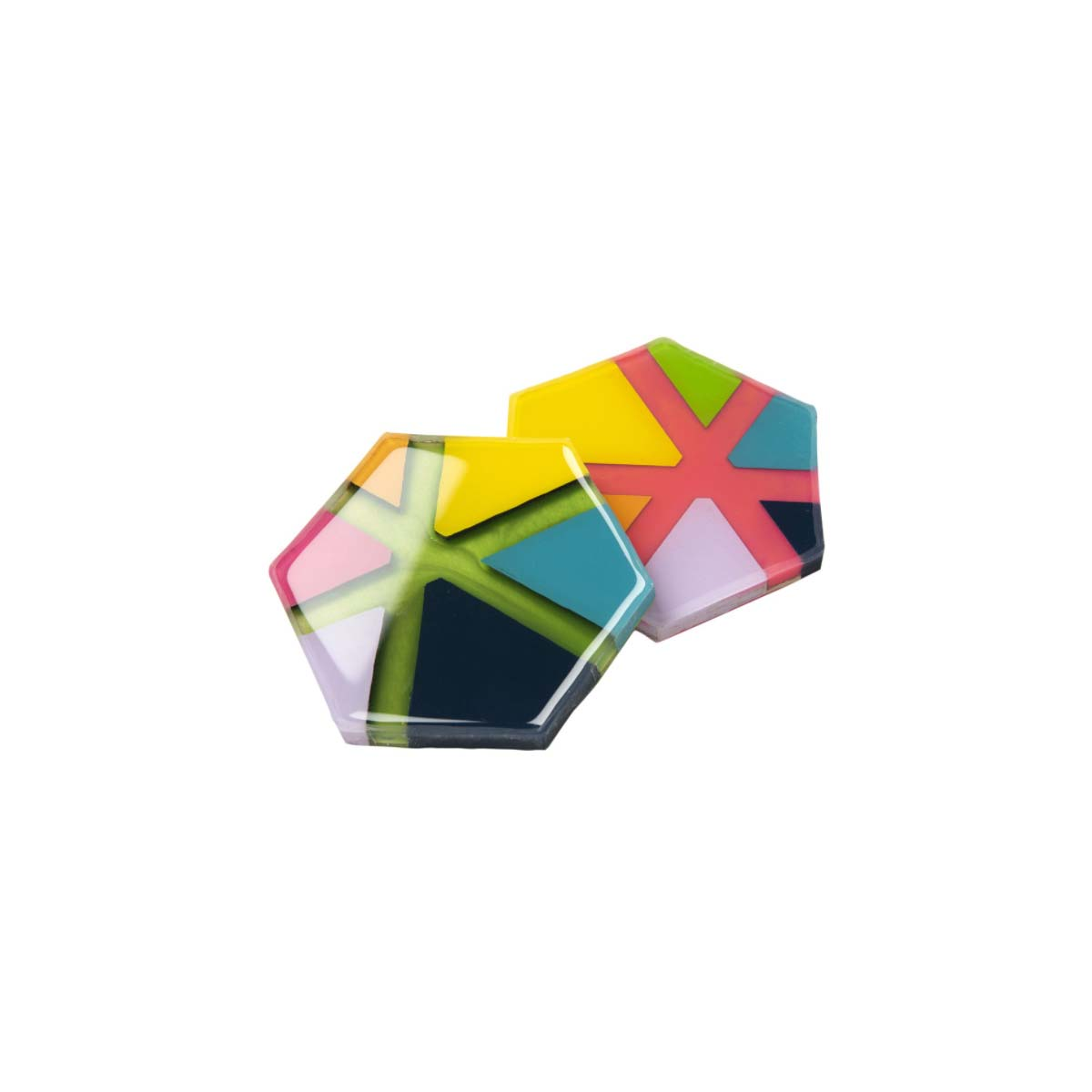 Mod Podge ® Resin Pouring Surface - Hexagon Star Coasters - 56935E