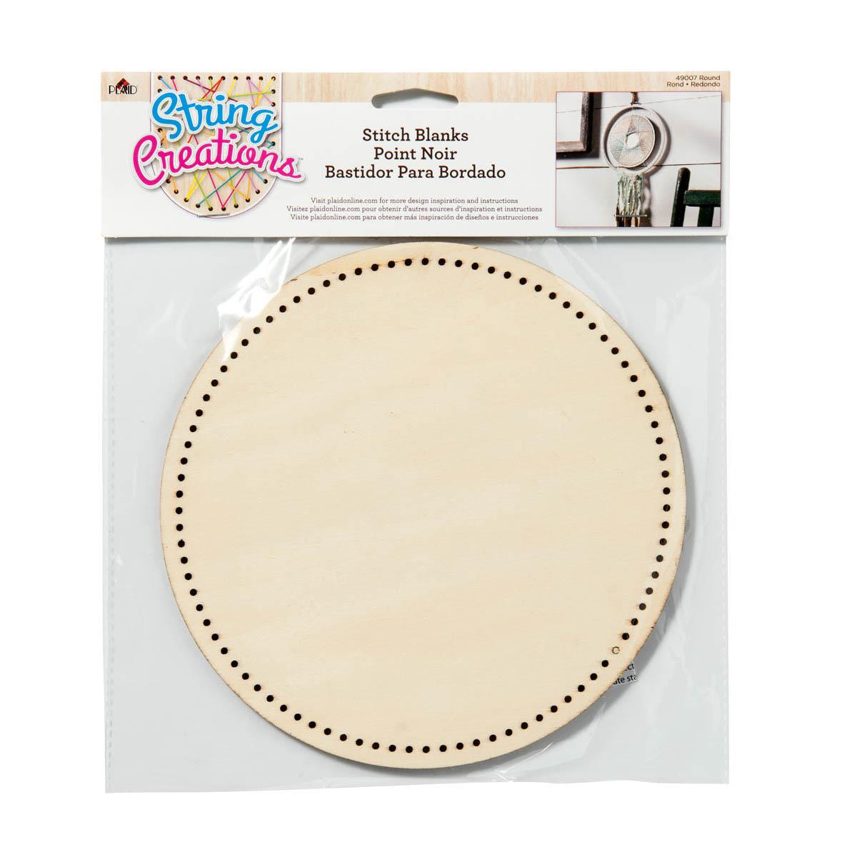 Bucilla ® String Creations™ Stitch Blanks - Round, Border Grid