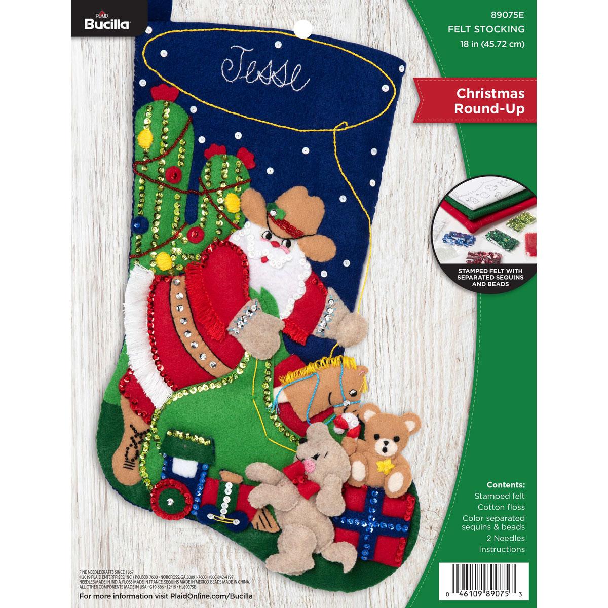 Bucilla ® Seasonal - Felt - Stocking Kits - Christmas Round-Up - 89075E