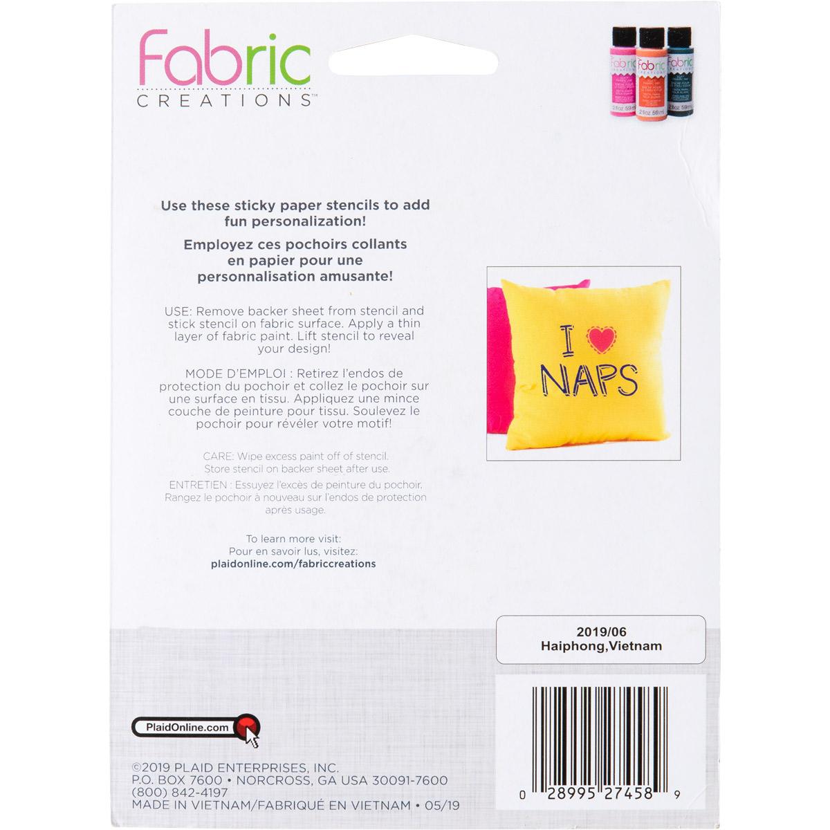 Fabric Creations™ Adhesive Stencils - Mini - Alphabet Whimsy, 3-1/2