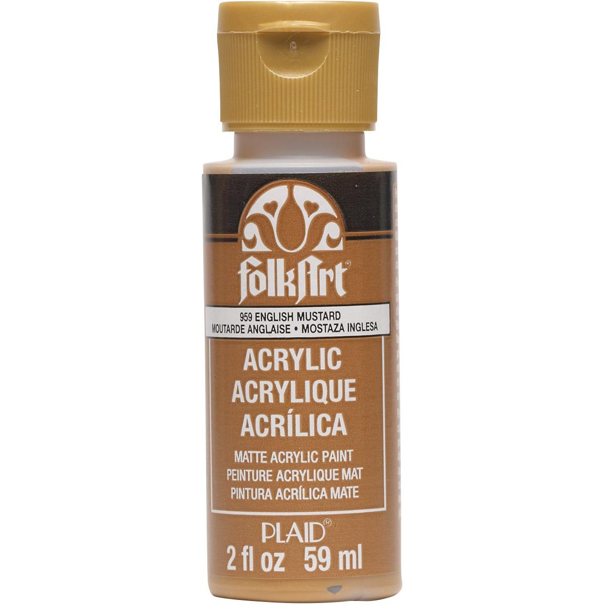 FolkArt ® Acrylic Colors - English Mustard, 2 oz.