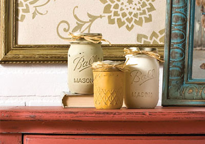 Ball Jar Chalk Paint Flower Vases