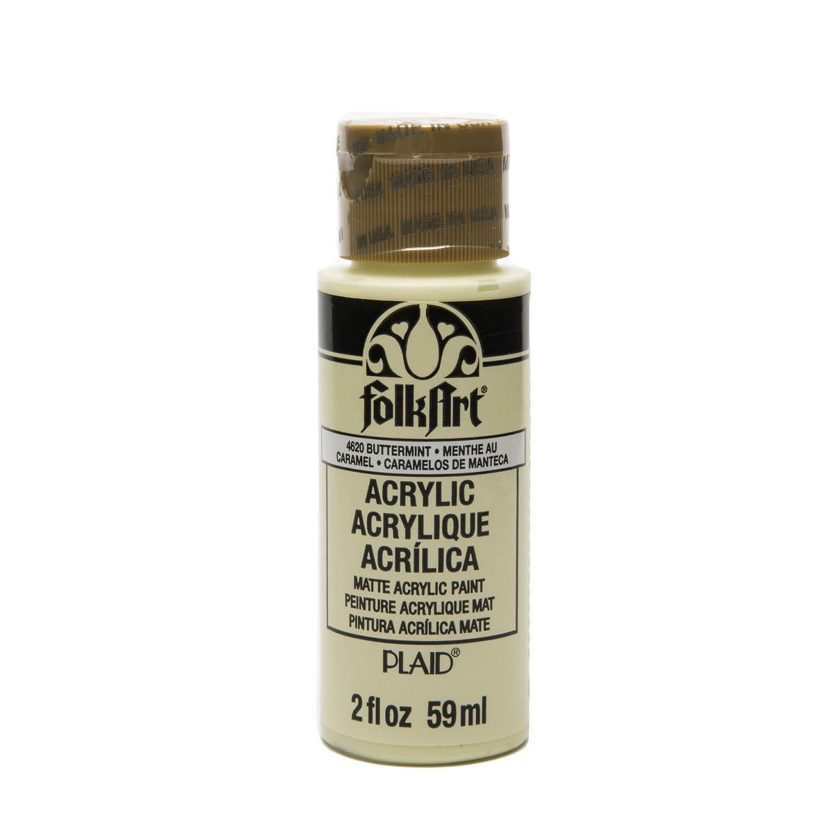 FolkArt ® Acrylic Colors - Buttermint, 2 oz. - 4620