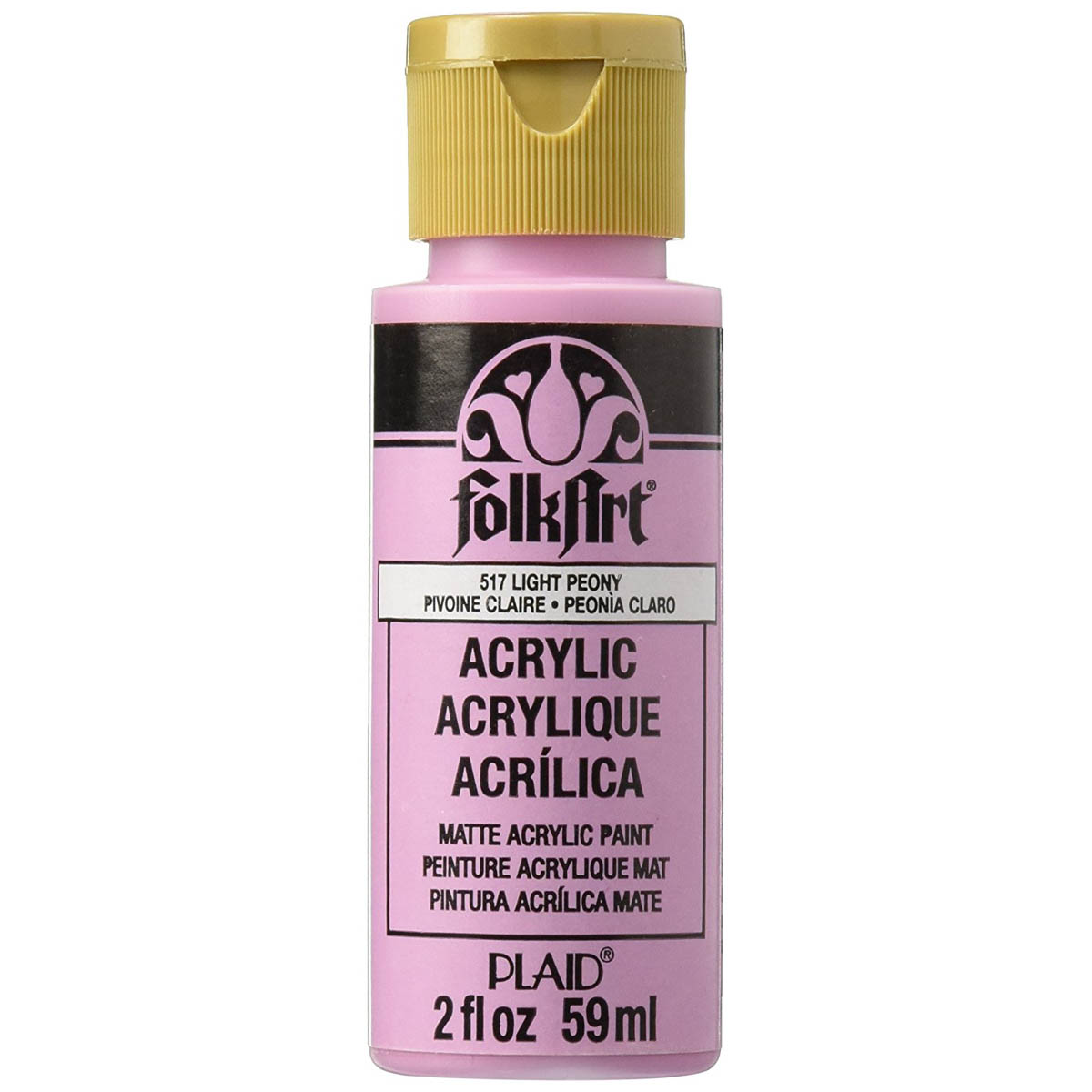 FolkArt ® Acrylic Colors - Light Peony, 2 oz.