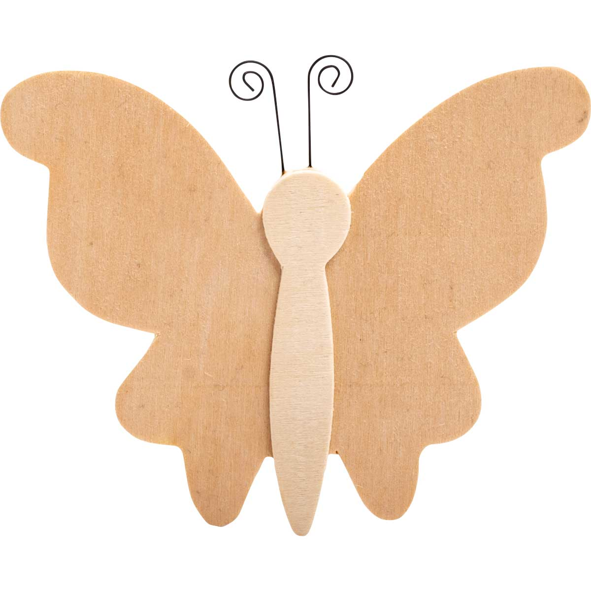 Plaid ® Wood Surfaces - Unpainted Layered Shapes - Butterfly