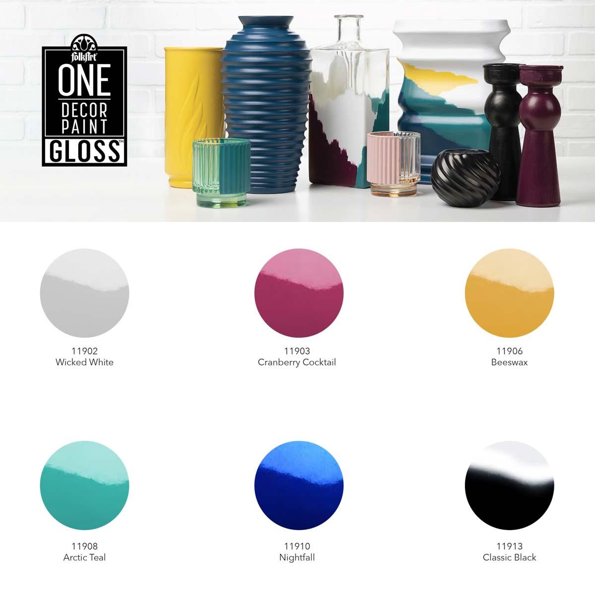 FolkArt ® One Décor Paint™ Gloss - Nightfall, 8 oz. - 11910