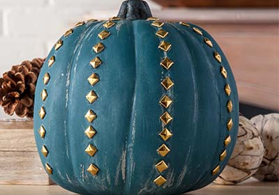 Gold Studded Pumpkin