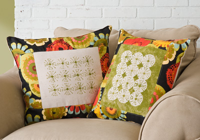 Modern Stenciled Pillow