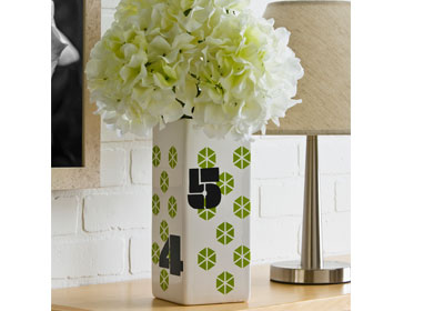 Handmade Charlotte Graphic Numbers Ceramic Container