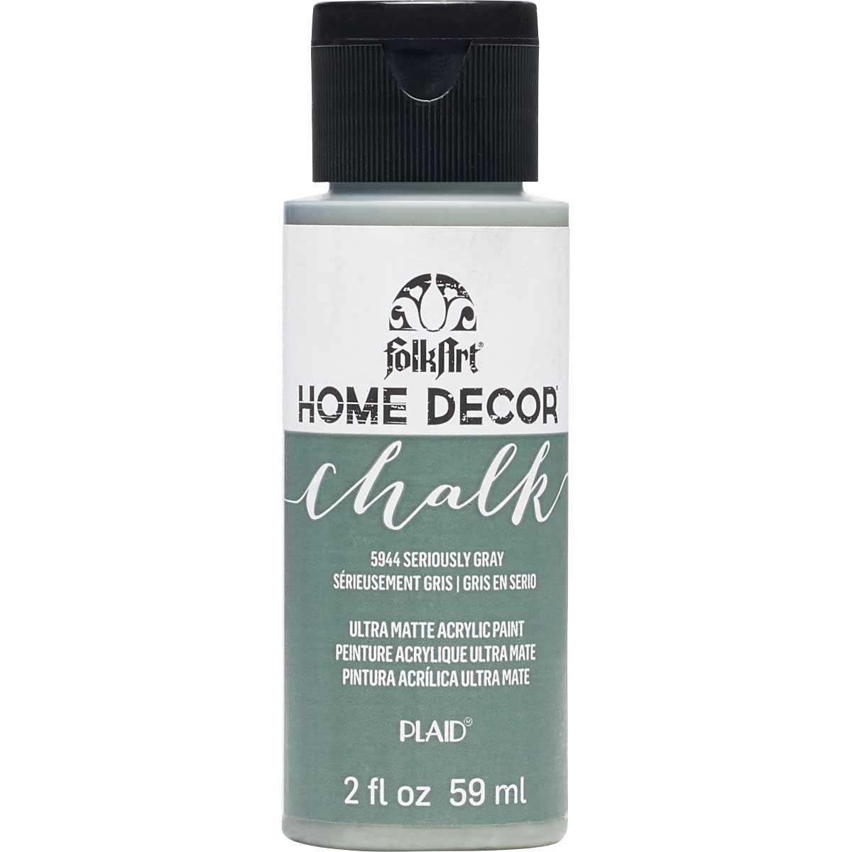 FolkArt ® Home Decor™ Chalk - Seriously Gray, 2 oz.
