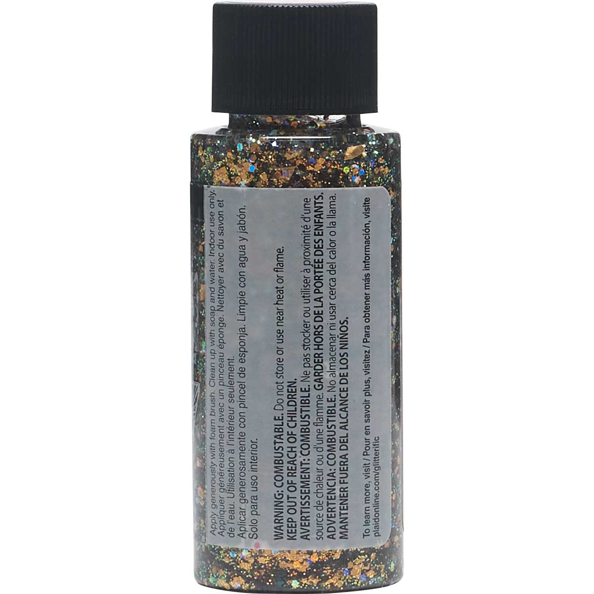 FolkArt ® Glitterific™ Acrylic Paint - Cinnamon, 2 oz.