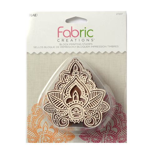 Fabric Creations™ Block Printing Stamps - Medium - Indian Leaf